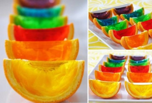 orange wedges a jello rainbow pin it rainbow gelatin orange wedges for ...