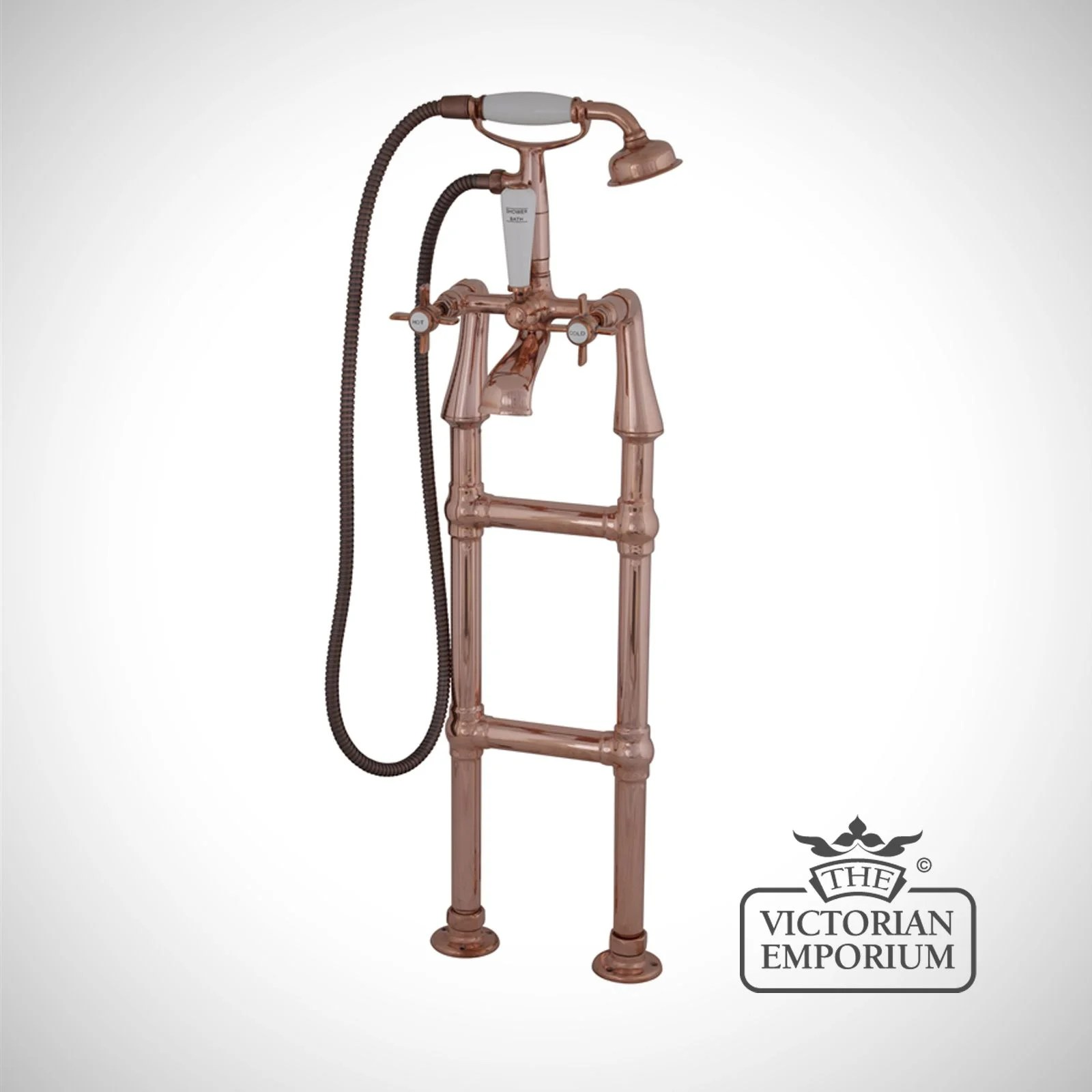 Copper Taps Medium Standing Taps In Chrome Or Copper Bath Taps And
