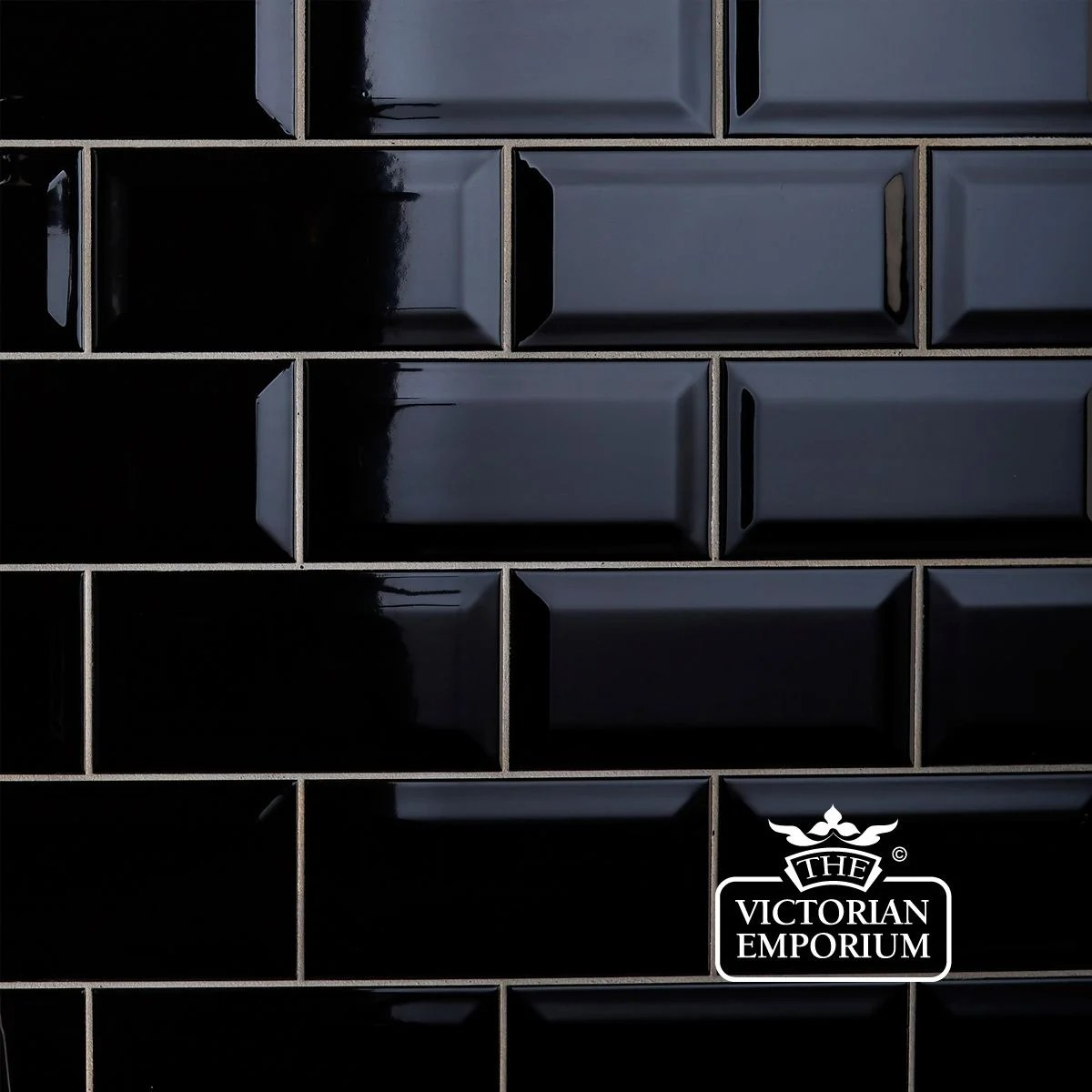 Black And White Kitchen Wall Tiles Bevel Wall Tiles 100x200mm Black Interior Ceramic Wall