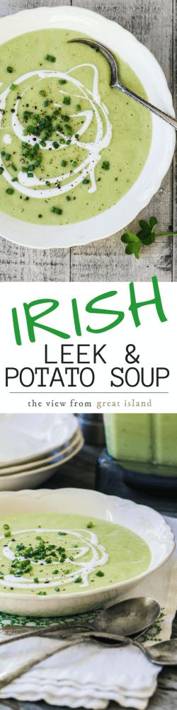 Flossy Potato Soup Comesstraight From Irish Countryside Irish Leek Satisfying Irish Leek This Auntic Potato Soup View From Island