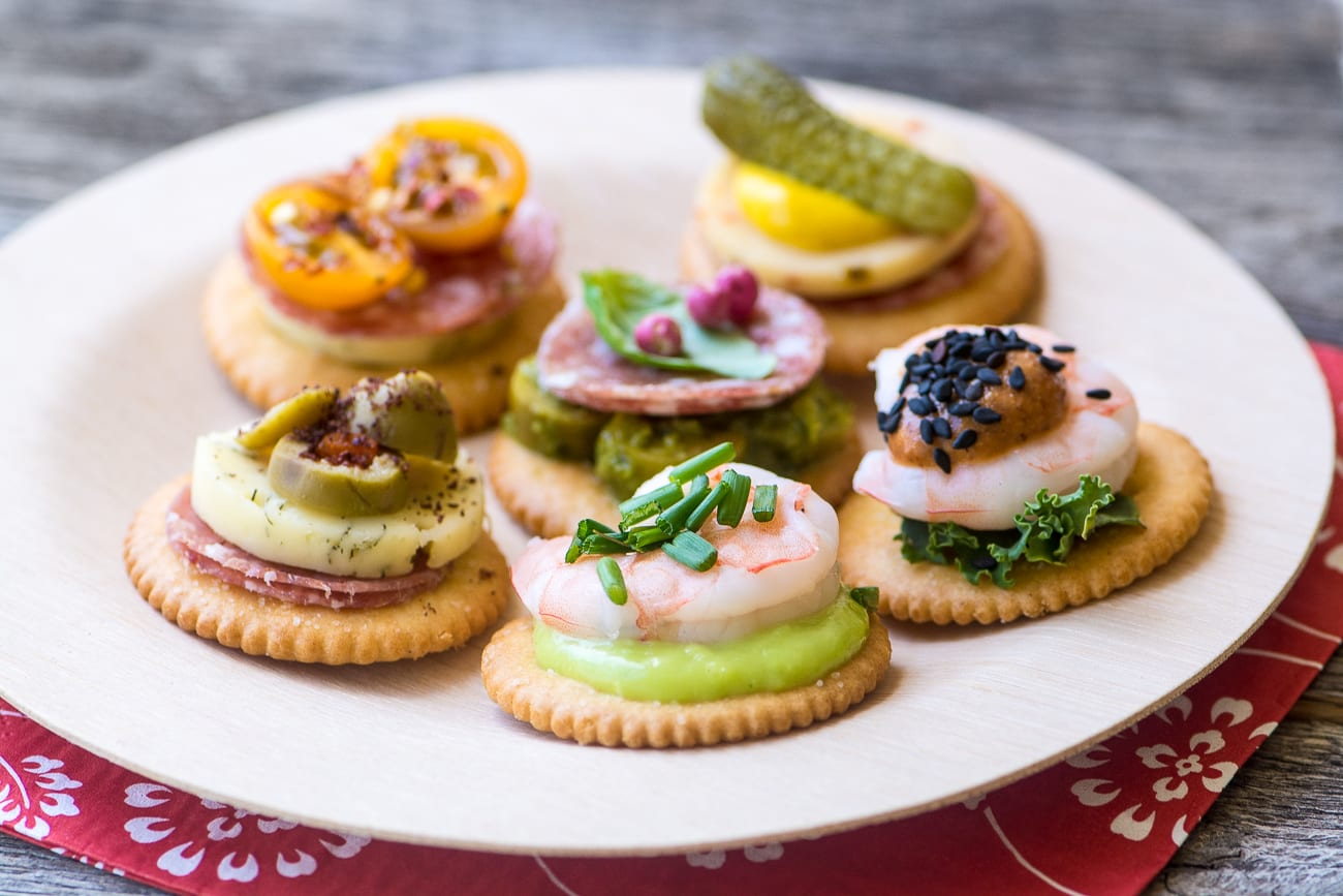 Canapes Economicos Easy Ritz Cracker Canapés Video The View From Great Island