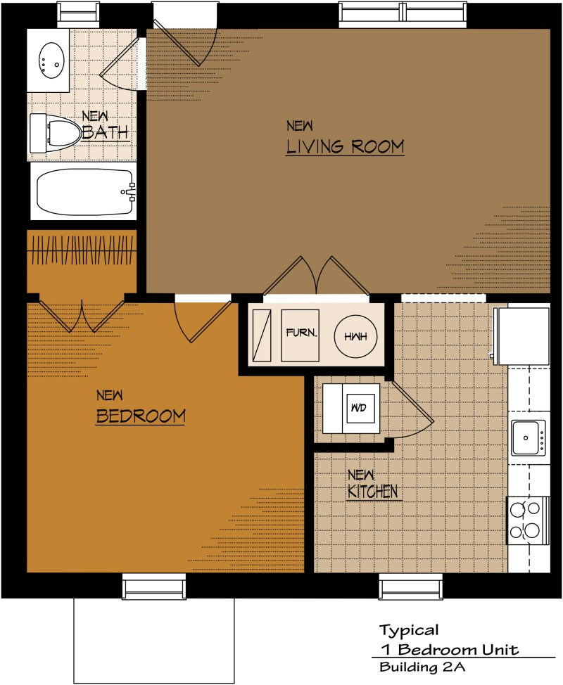 Large Of One Bedroom Apartment Floor Plans