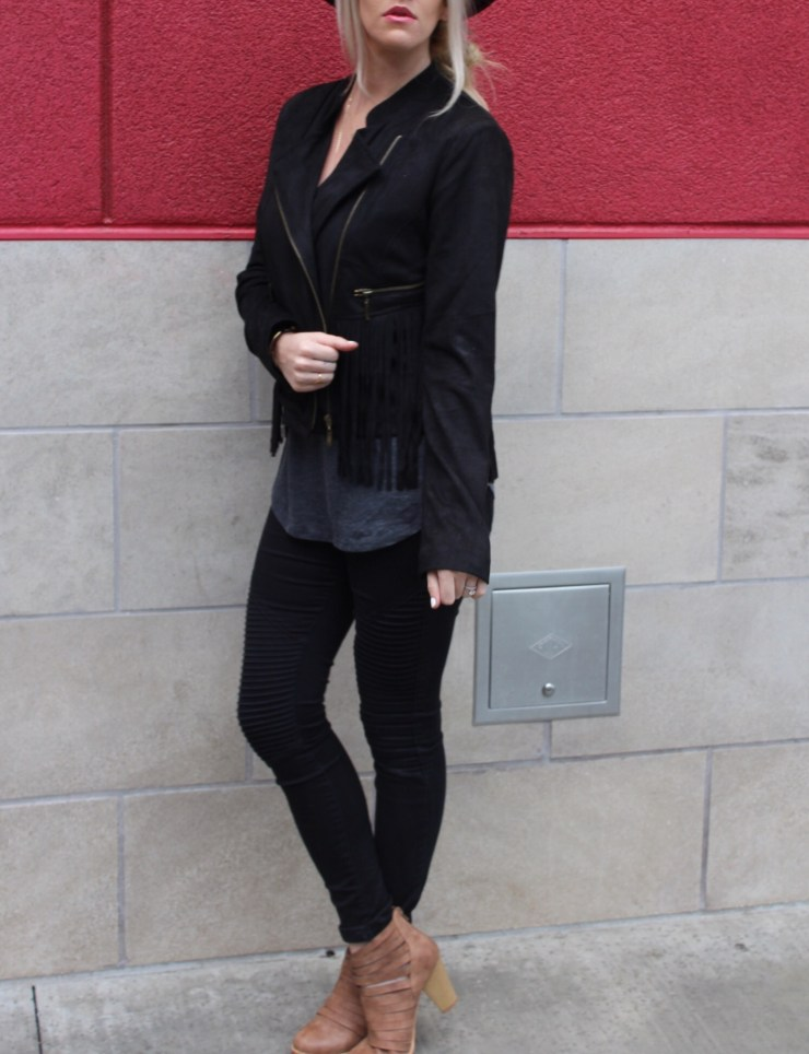 The Vintage Blonde - Fringe Jacket