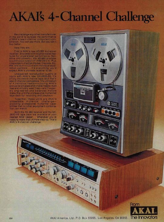Akai's Flagship Quadraphonic Receiver the AS-980 paired with their top-end Quad Reel-to-Reel