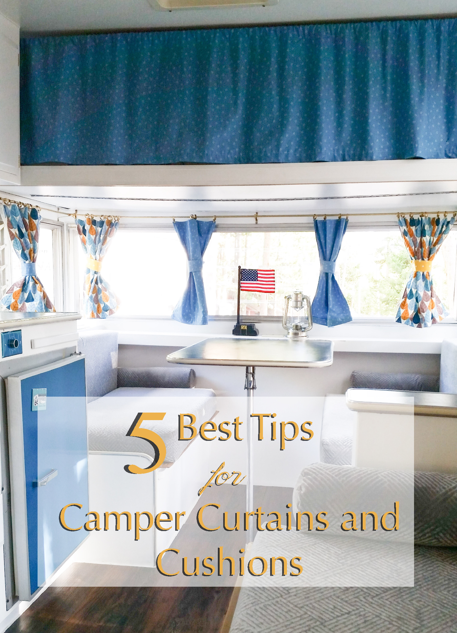 Trailer Curtains 5 Best Tips For Diy Camper Curtains The Vintage Journey