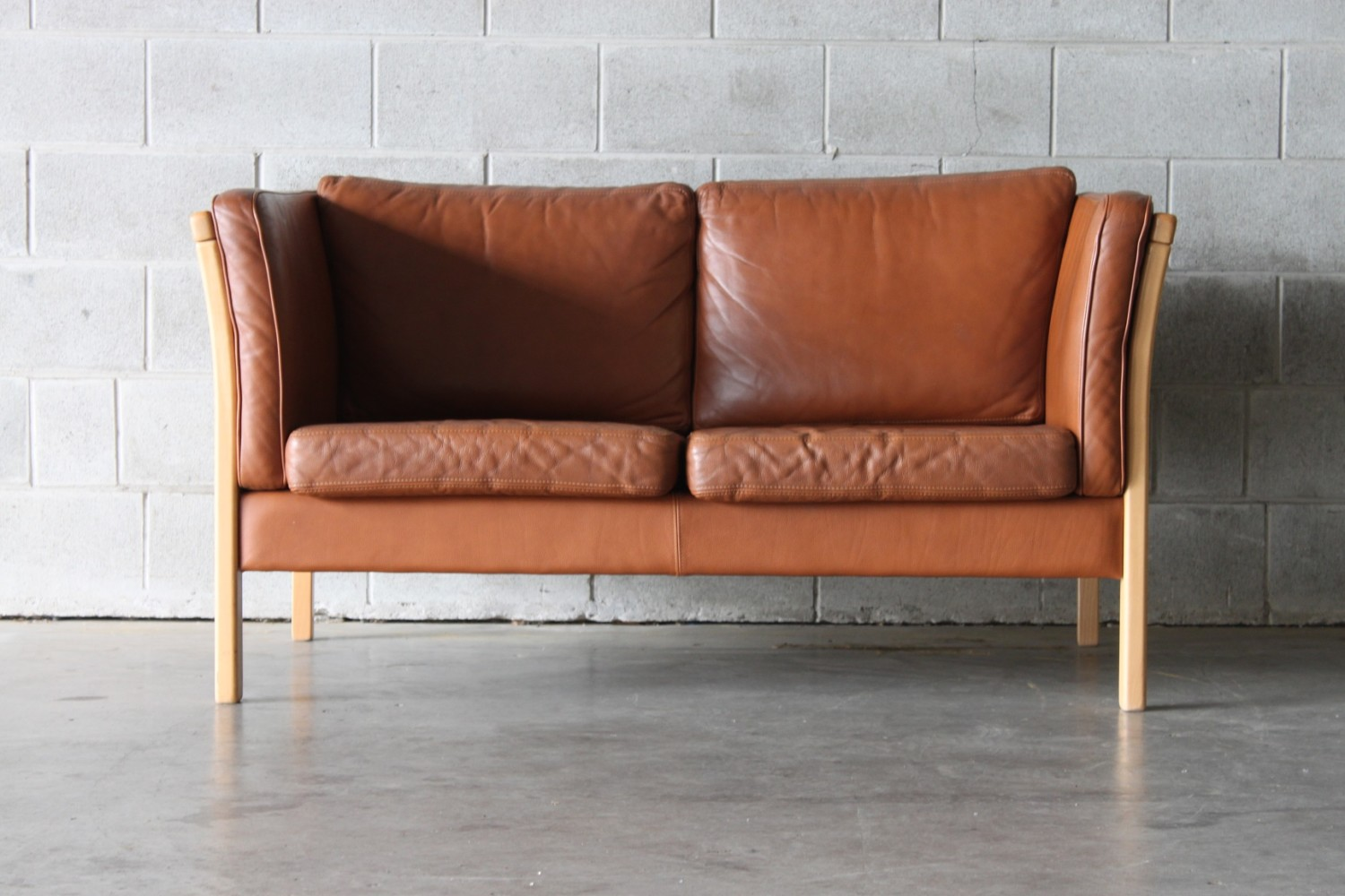 Leather Sofa Wellington Nz Tan Leather 2 Seater Sofa The Vintage Shop