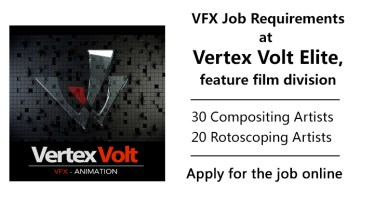 vertex volt elite vfx job requirement