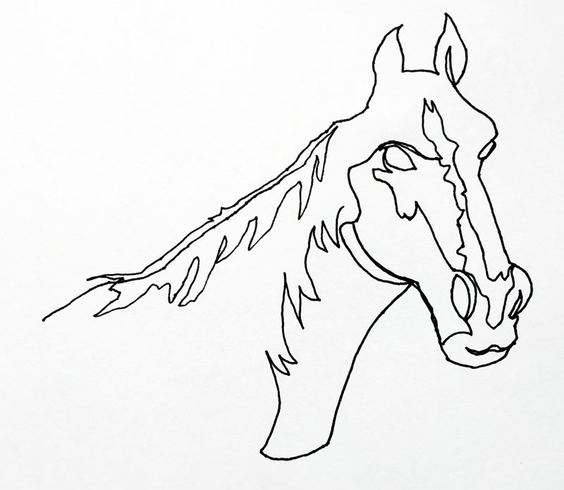 Continuous Line Drawing - line drawing