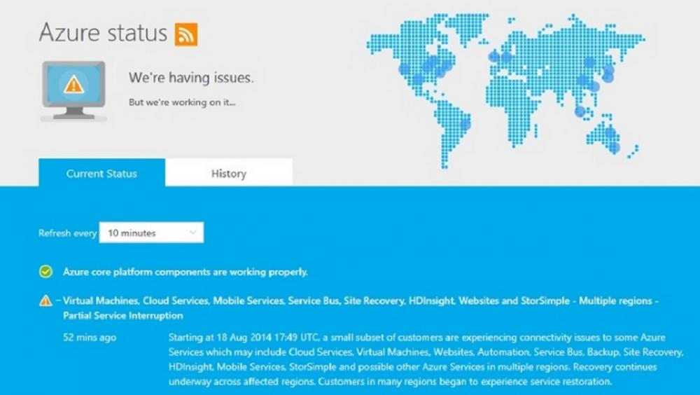 Microsoft\u0027s Azure Cloud Service, MSN, Office 365 and Xbox Live