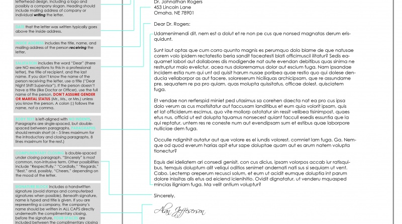 How to Write a Letter in Business Letter Format \u2013 The Visual