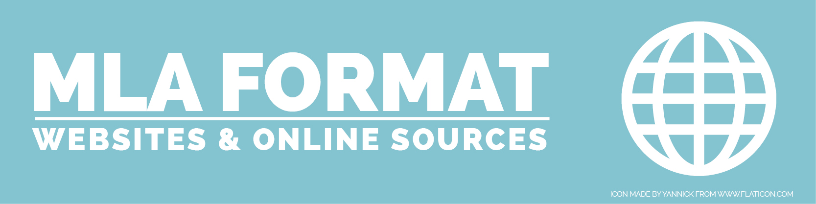 MLA FORMAT WEBSITES AND ONLINE SOURCES \u2013 The Visual Communication