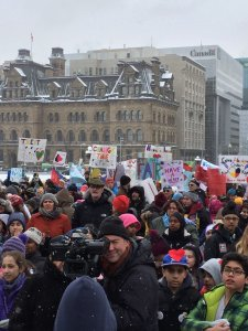 Caring Society rally at Parliament. February 10, 2016