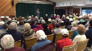 Meeting of seniors threatened with renoviction in James Bay, January 2016
