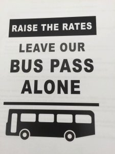 Bus pass_Leave our pass alone_SIGN