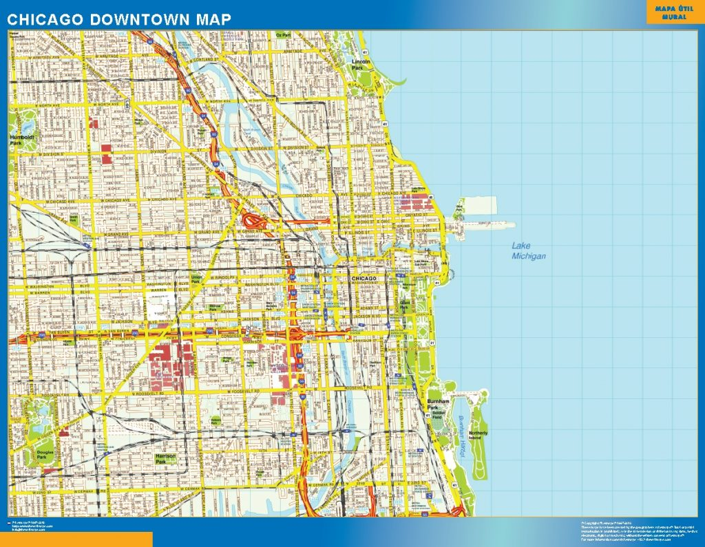 Maps Saarbrücken Chicago Downtown Map Wall Maps Of The World