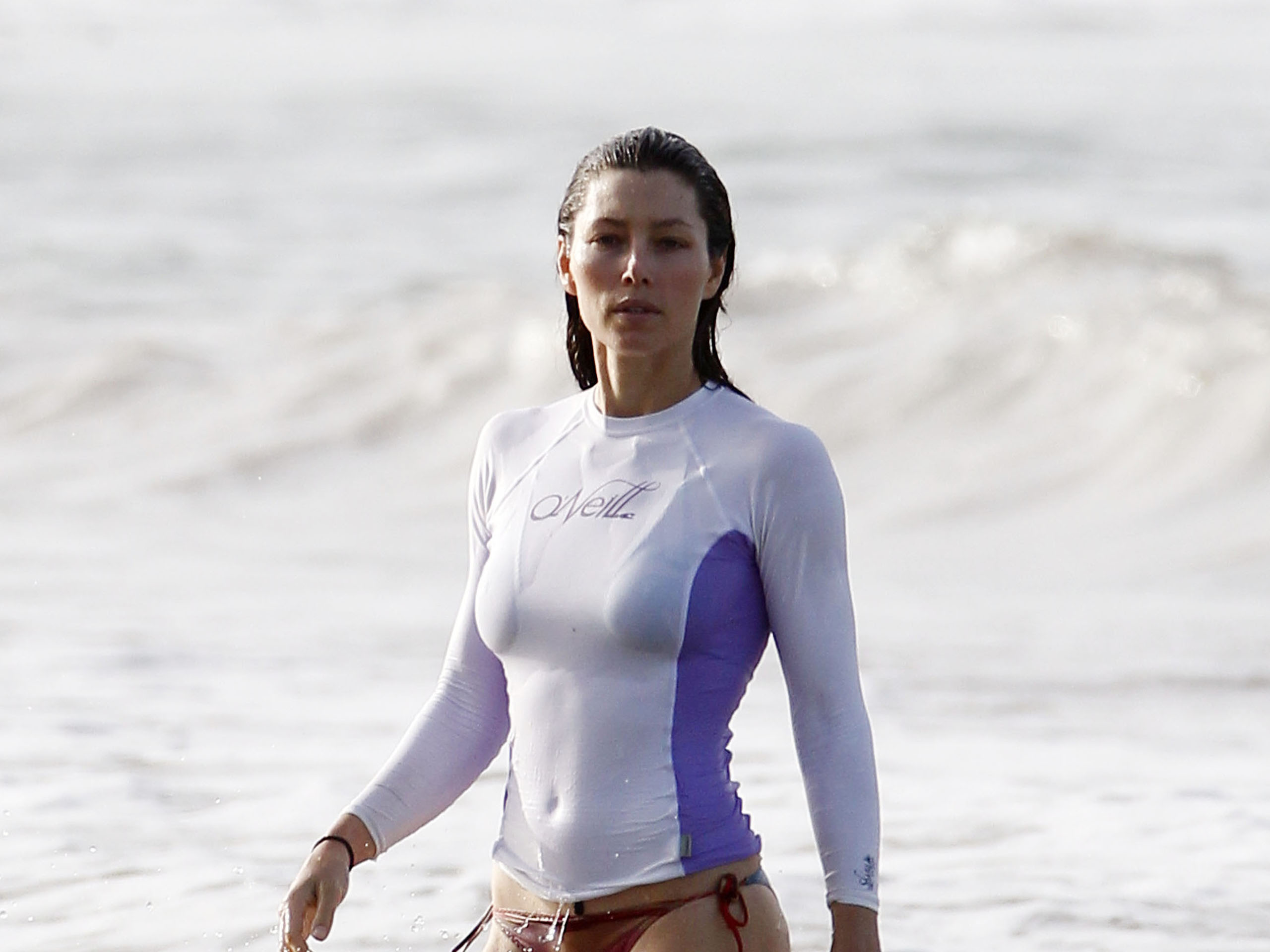 Alizee Wallpaper Hd Jessica Biel Bikini Beach Vacation Candids In Puerto Rico