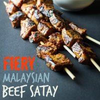 Fiery Malaysian Beef Satay