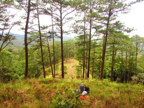 Ta Nang Trek: steep slope we climbed.