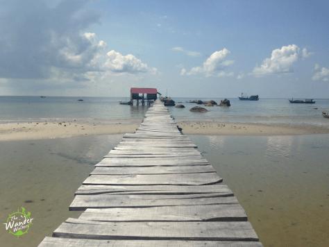 Stilt path in Ham Ninh