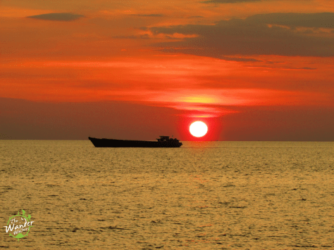 My second sunset in Phu Quoc at Long Beach.