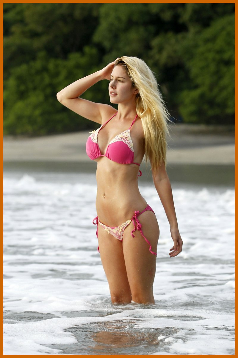 Cute Korean Little Girl Wallpaper Heidi Montag Pink Bikini The Wank Tank