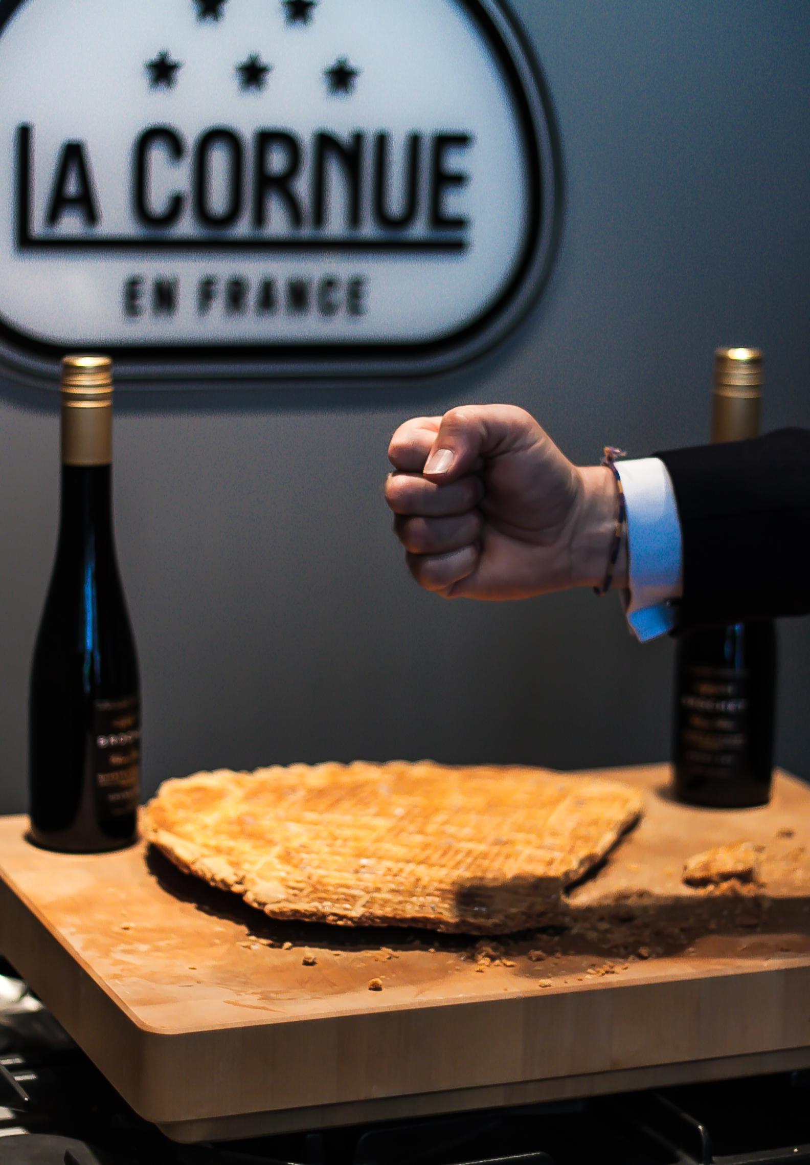 Frédéric Brochet delar sin Broyé du Poitou_Lansering Brochet Quarts de Chaume_La Cornue