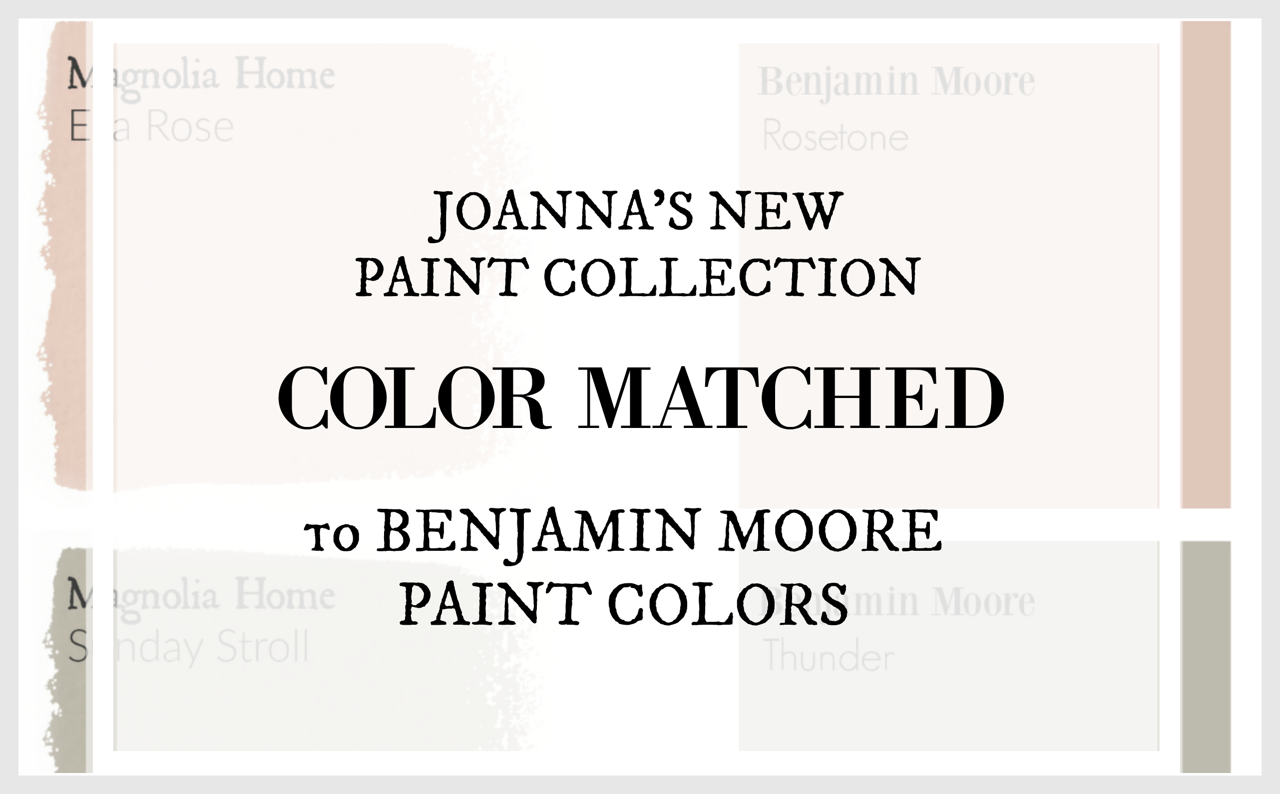 Benjamin Moore Bedroom Colors Fixer Upper Paint Colors Magnolia Home Paint Color Matched To
