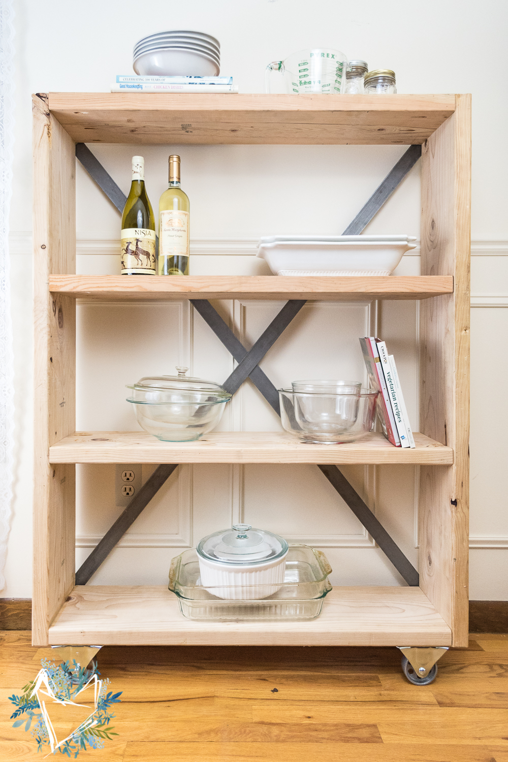 Pantry Shelves Industrial Farmhouse Pantry Shelf The Weathered Fox