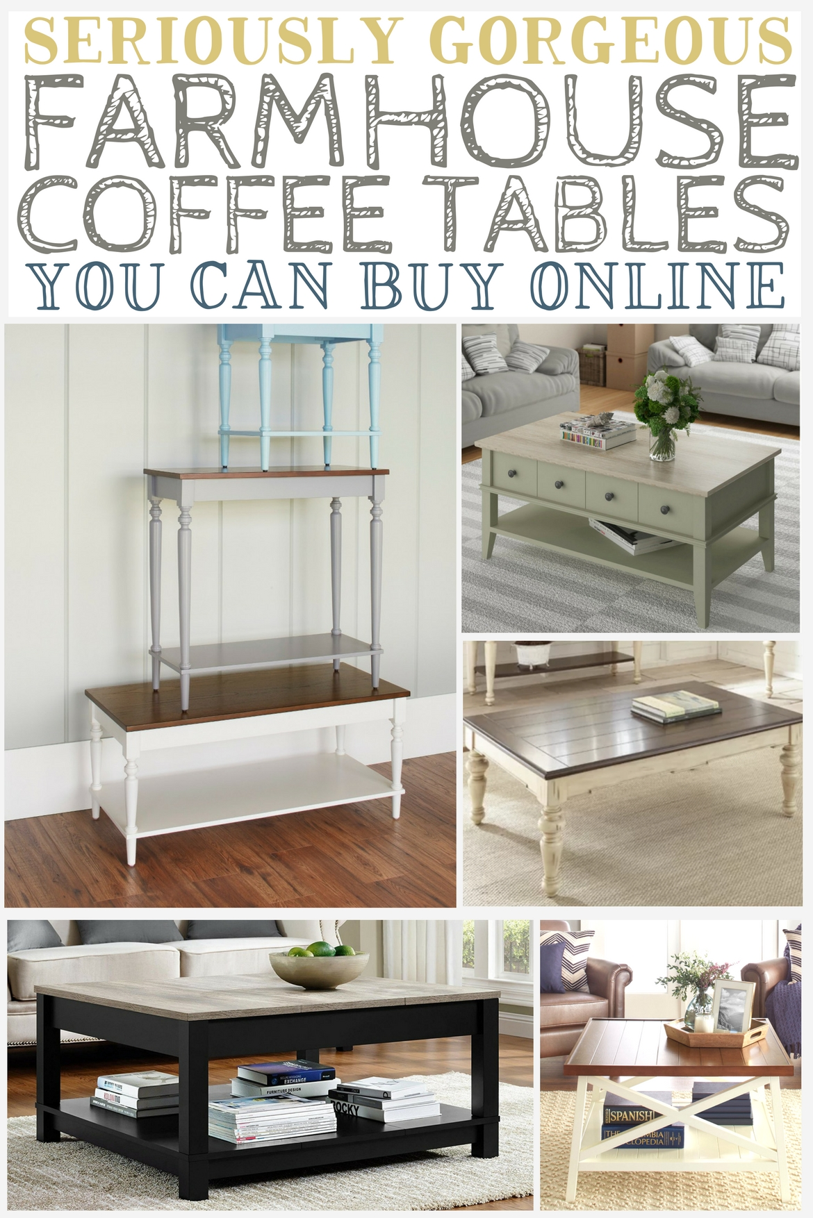 Farmhouse Coffee Shop Seriously Gorgeous Farmhouse Coffee Tables You Can Buy Online