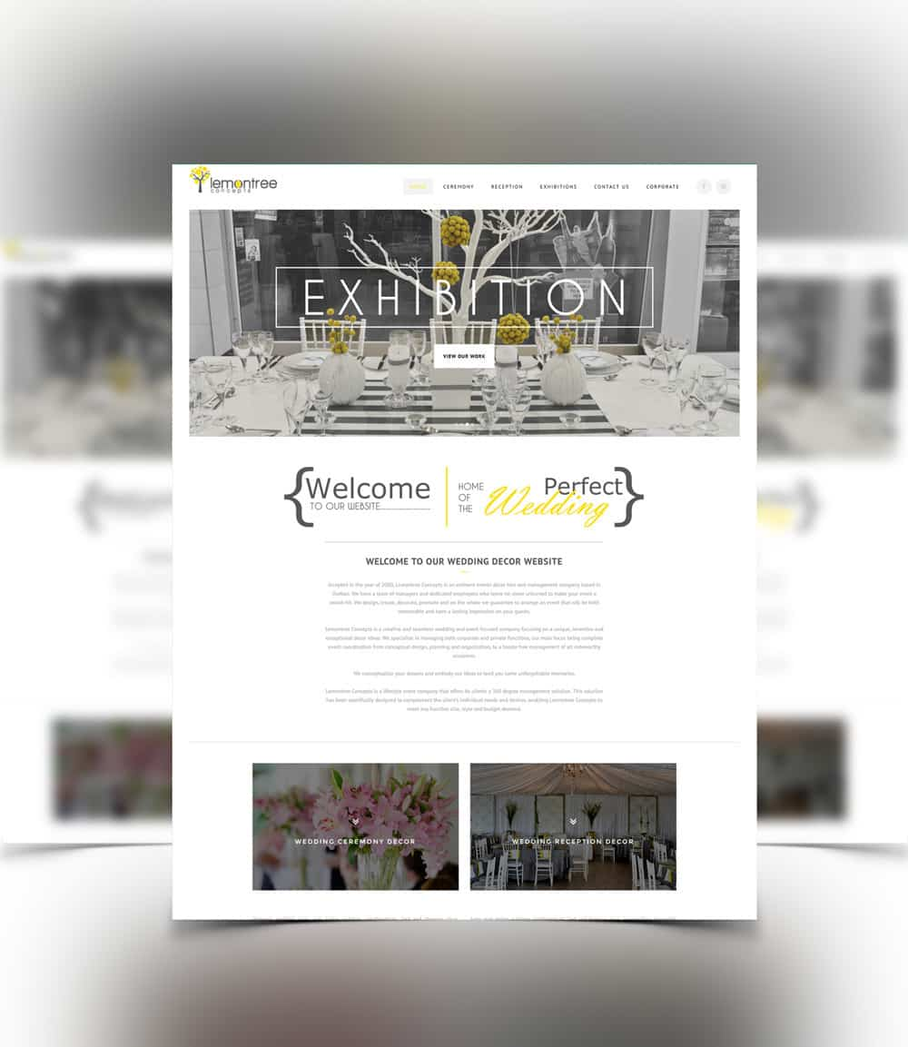 Image of decor website design for lemontree concepts