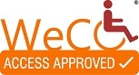 WeCo's trademark certified Access Approved Seal.