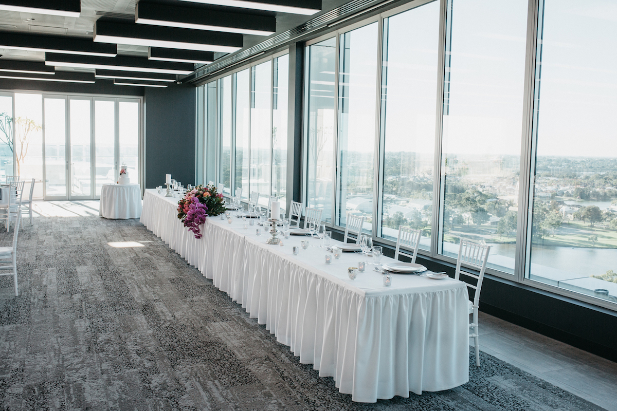 Loft Perth Aloft Perth Ceremony Wedding Reception With Views To Swan River
