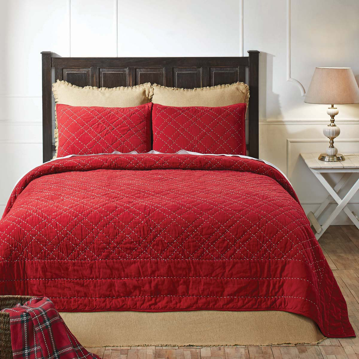 King Quilt Size Tucker Red Quilt King Size The Weed Patch
