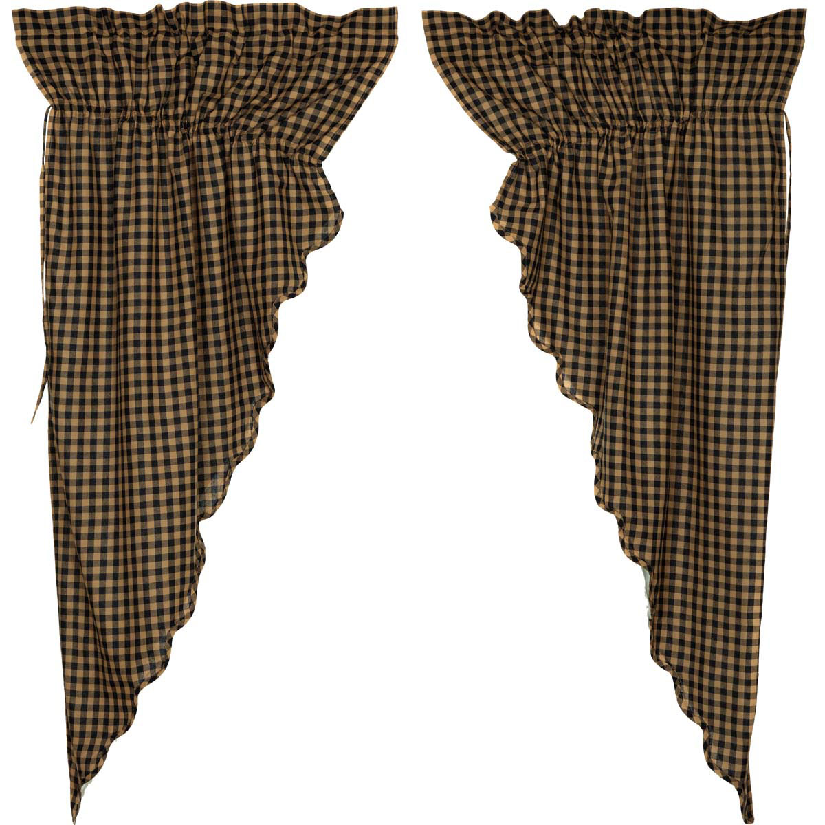 102 Inch Curtains Black Check Prairie Curtain By Nancy S Nook The Weed Patch