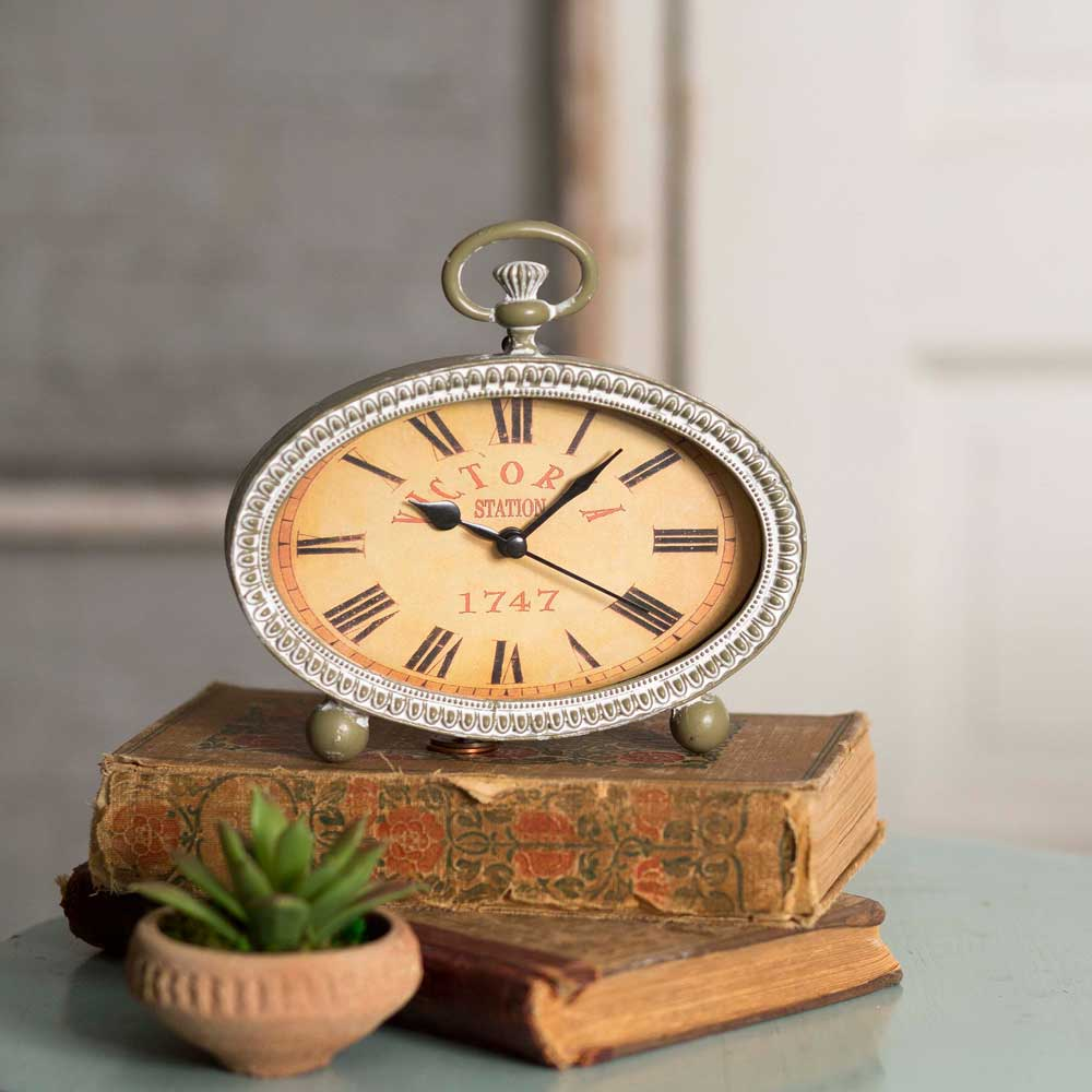 Oval Clock Face Victoria Oval Tabletop Clock The Weed Patch