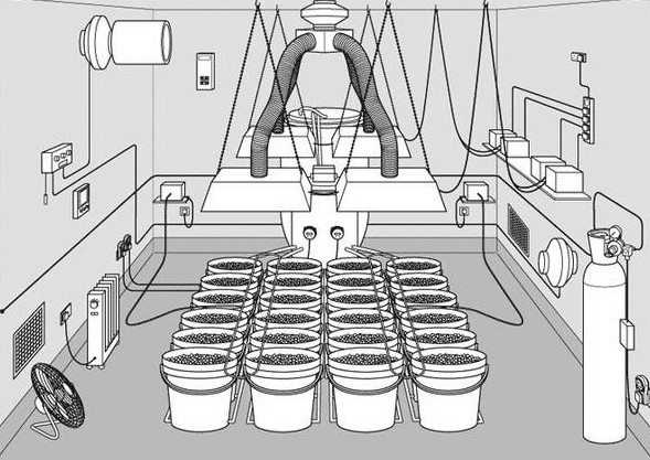 set up marijuana grow room hydroponics soil