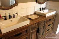 Turning a Dresser into a Bathroom Vanity | The Weekend ...