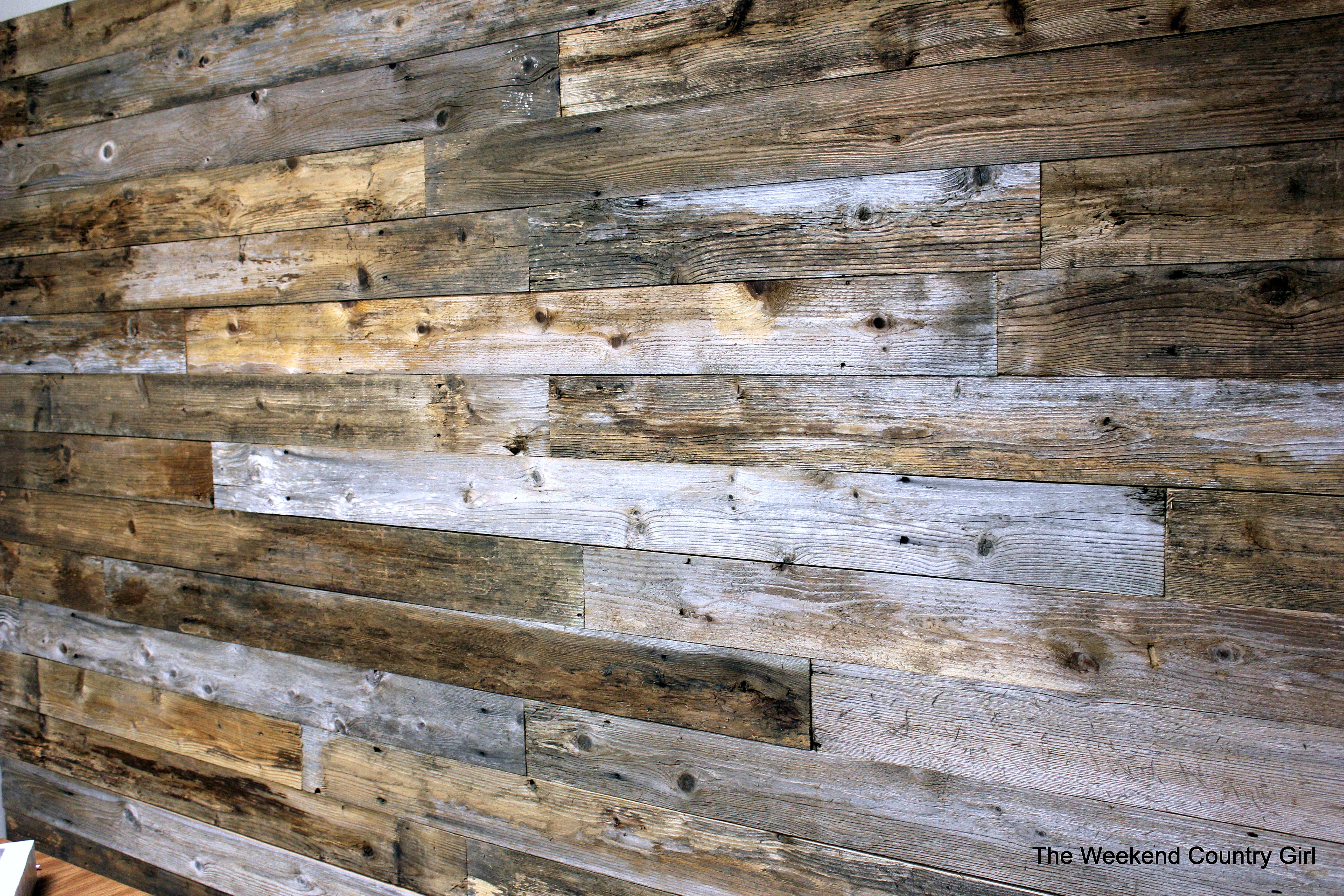 Wall With Wood Reclaimed Wood Wall The Weekend Country Girl