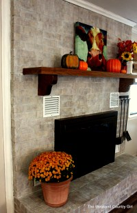 Whitewashing a Dated Fireplace | The Weekend Country Girl