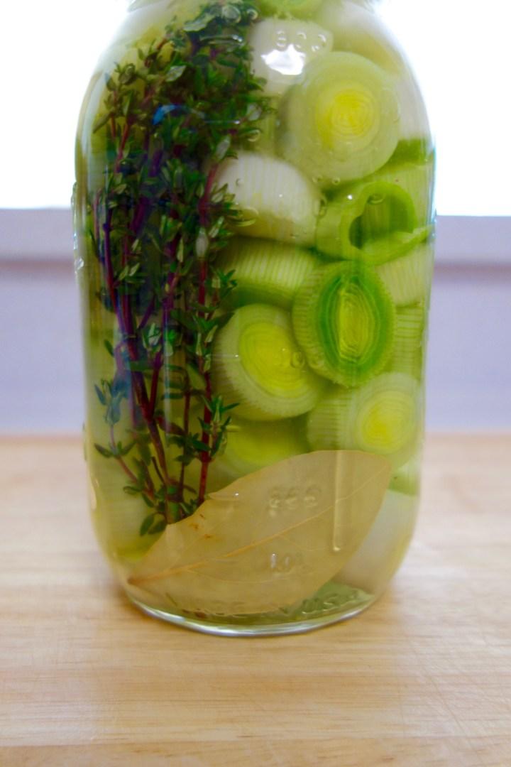 pickled-leeks