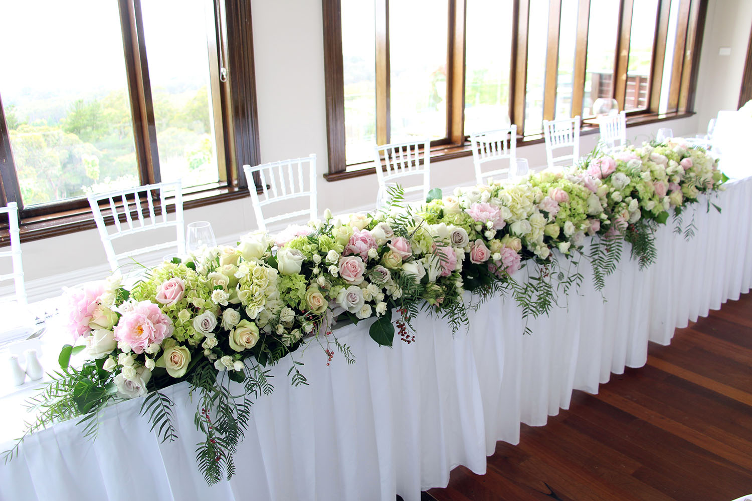 Classic Bridal Hedge The White Orchid Floral Design