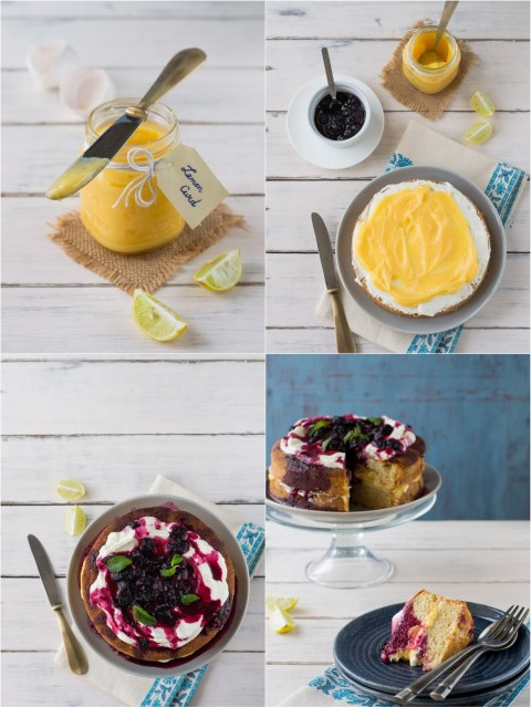 Lemon Curd & Blueberry Gateau 6