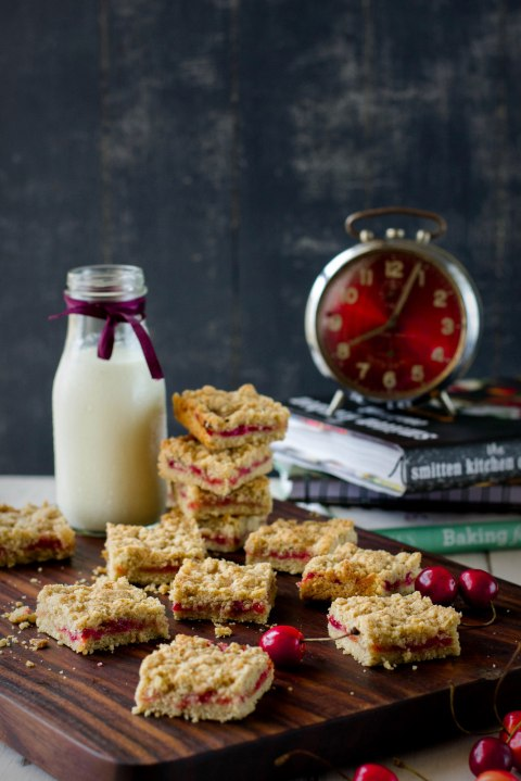 Cherry & Plum Crumb Bars