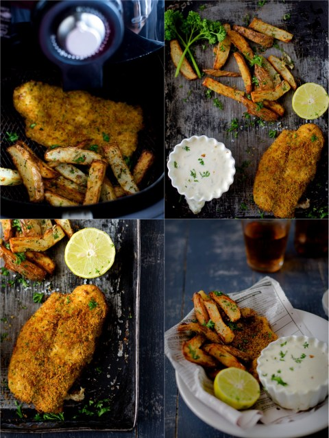 Fish chips with tartar sauce the airfryer way the for Airfryer recipes fish