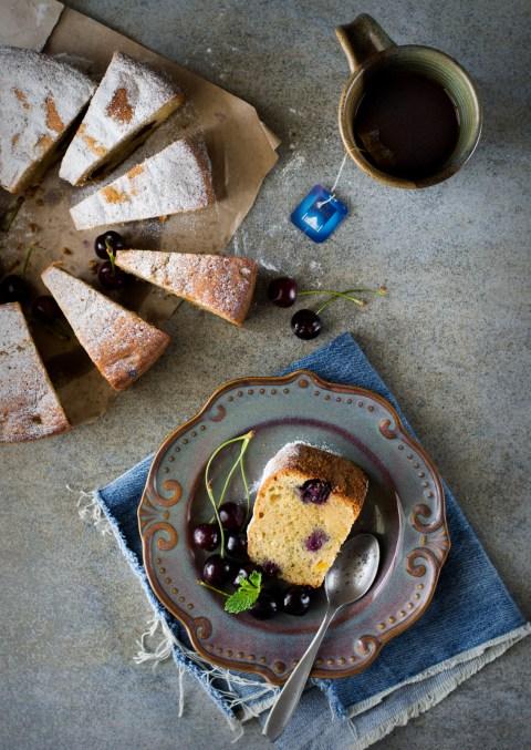 Olive Oil Wholewheat Stone Fruit Cake