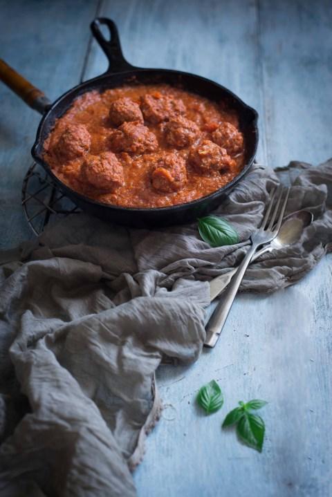 Lamb Meatballs & Spaghetti