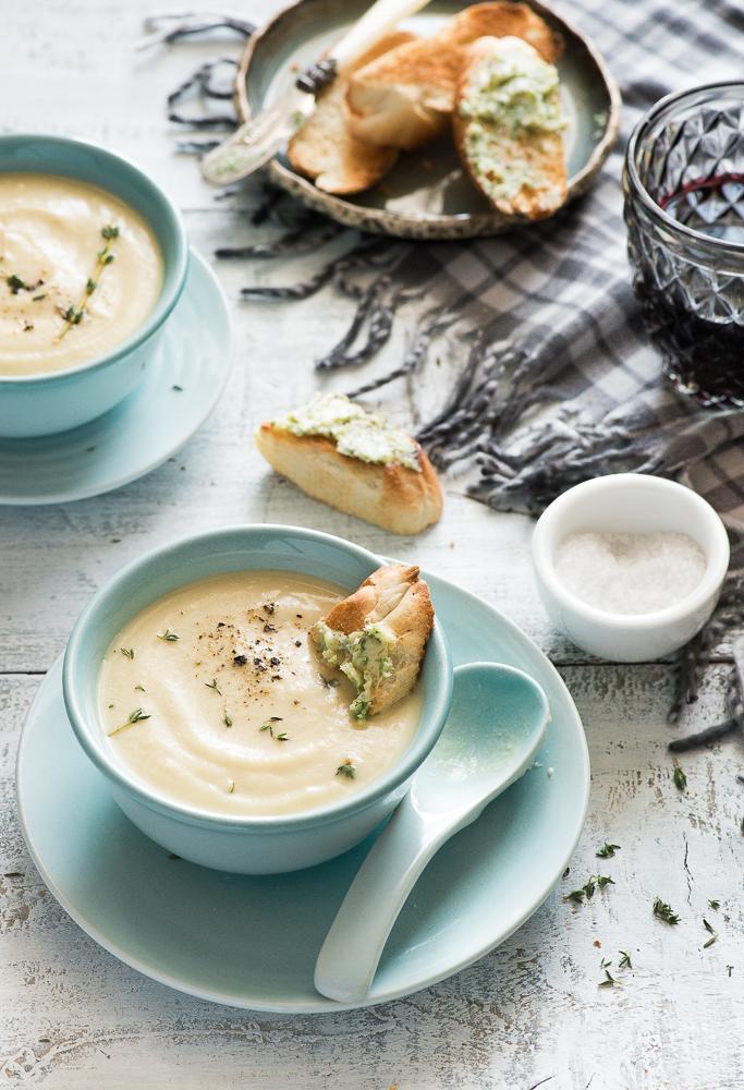 soup golden cauliflower soup roasted cauliflower soup cauliflower ...
