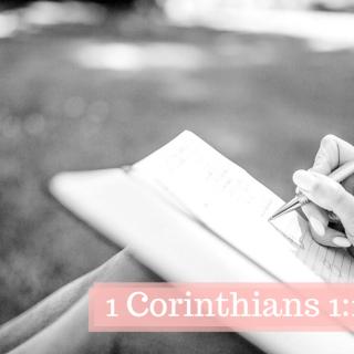 1 Corinthians 1:1-31