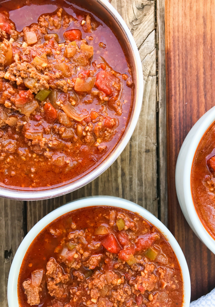 No Bean 30 Minute Chili by The Whole Cook VERTICAL FEATURE