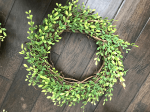 Faux Boxwood Wreath FINAL